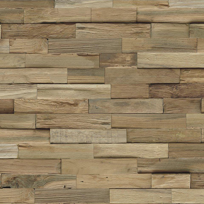 Indo Holzpaneele Indo 3D Wall Nature (Teak, 500 x 200 x 10 mm, 10 Paneele)