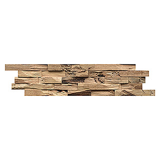 Indo Holzpaneele 3D Wall Beachwood Nature (Hevea, 610 x 150 x 10 mm, 10 Paneele)