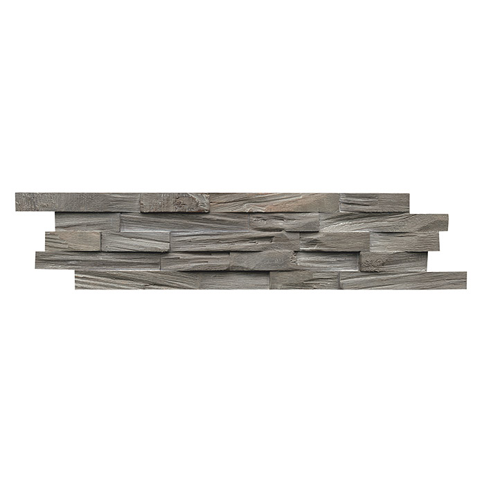 Indo Holzpaneele 3D Wall Beachwood Gun Smoked (Walnuss, 610 x 150 x 10 mm, 10 Paneele)
