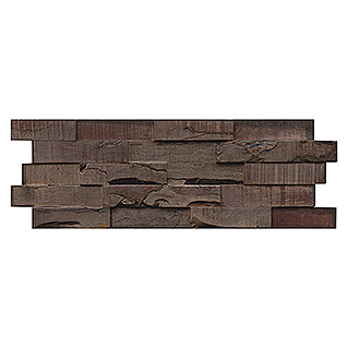 Holzpaneele Indo 3D Wall Slimwood Charred (Hevea, 560 x 200 x 8 mm, 9 Paneele)