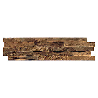 Indo Holzpaneele 3D Wall Diamondwood Nature (Teak, 610 x 150 x 10 mm, 11 Paneele)