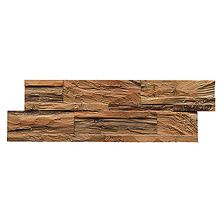 Indo Holzpaneele 3D Wall Diamondwood Nature (Teak, 555 x 180 x 10 mm, 10 Paneele)