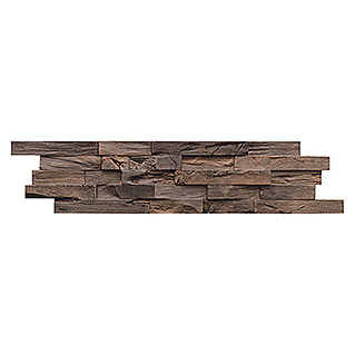 Holzpaneele Indo 3D Wall Beachwood Coffee (Hevea, 610 x 150 x 10 mm, 10 Paneele)
