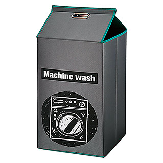 Cesta de ropa Machine wash (32 x 32 x 80 cm, Gris)