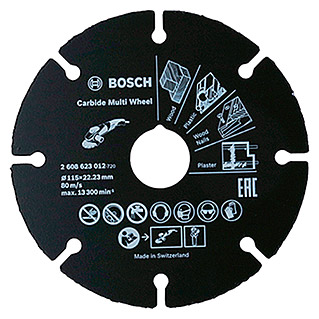 Bosch Professional Disco de corte de carburo Multi Wheel (Diámetro disco: 115 mm, Apto para: Tubos, 1 ud.)