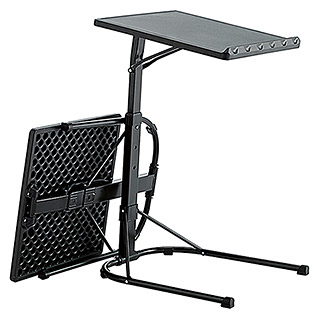 Mesa plegable Multitable (L x An x Al: 43 x 49 x 73 cm, Negro)