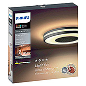 Philips Hue Being Plafón LED redondo Hue (32 W, Negro/blanco, Ø x Al: 34,8 x 5,1 cm)