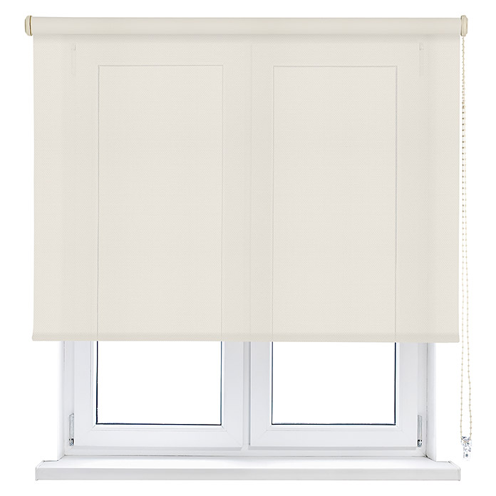 Viewtex Estor enrollable Screen 10% (An x Al: 180 x 250 cm, Beige/Blanco, Traslúcido)