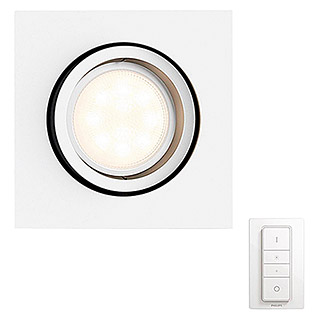 Philips Hue Foco downlight LED empotrable Milliskin (5,5 W, Blanco, L x An x Al: 9 x 9 x 9 cm)