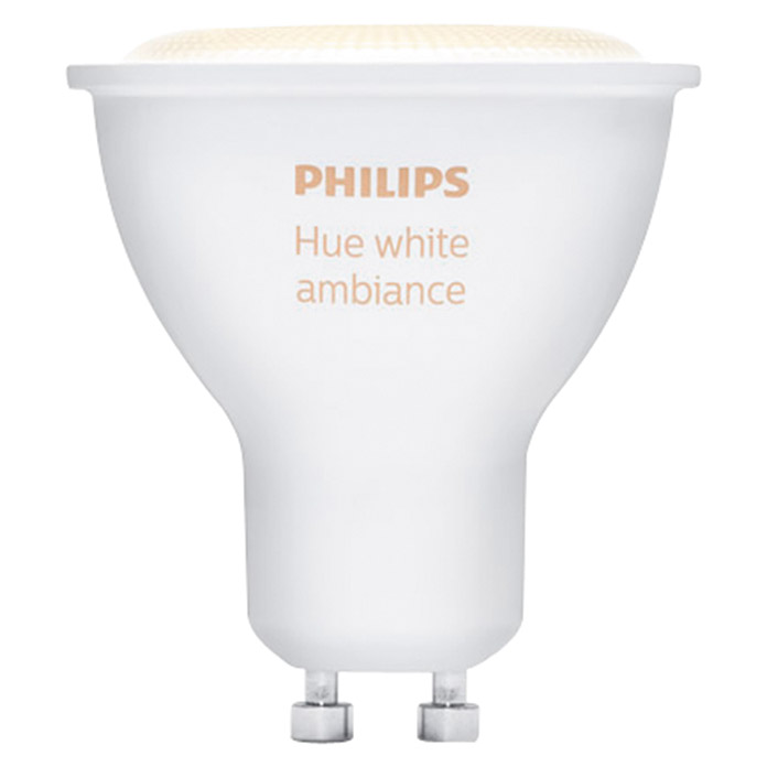 Philips Hue Bombilla LED (6,5 W, GU10, RGBW, Temperatura de color ajustable, Intensidad regulable, 1 ud.)