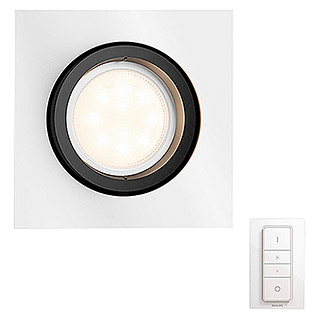 Philips Hue Foco downlight LED empotrable Milliskin con mando (5,5 W, Blanco, L x An x Al: 9 x 10 x 9 cm)