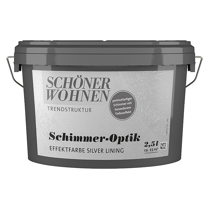 sch ner wohnen trendstruktur effektfarbe schimmer optik 2 5 l silver lining 5903 crea. Black Bedroom Furniture Sets. Home Design Ideas