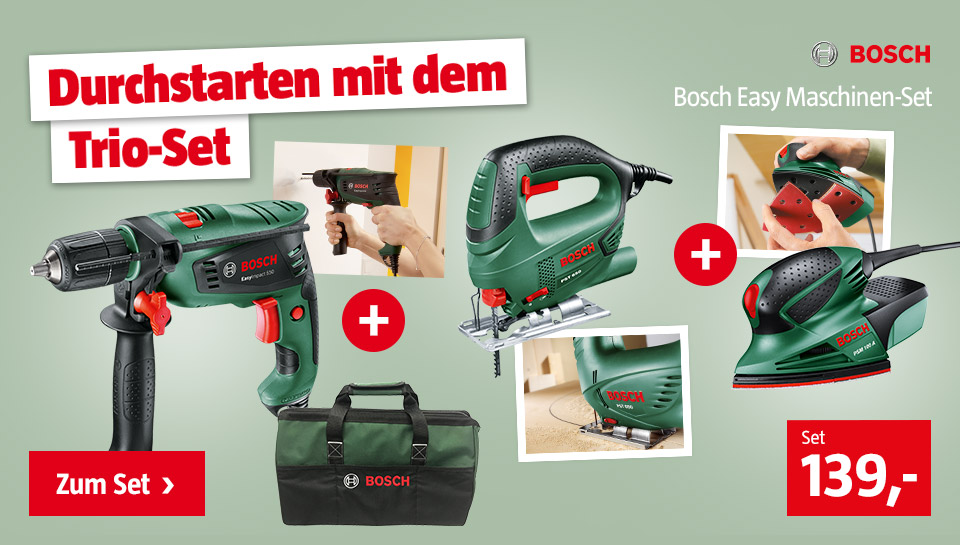 Bosch Trio Set