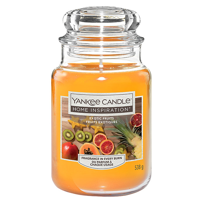 Yankee Candle Home Inspirations Duftkerze (Im Glas, Exotic Fruits, Large)