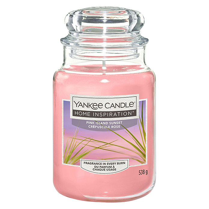 Yankee Candle Home Inspirations Duftkerze (Im Glas, Pink Island Sunset, Large)