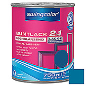 BUNTLACK 2IN1 HGL.WB750 ml ENZIANBLAU   SWINGCOLOR