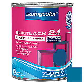 swingcolor 2in1 Buntlack  (Enzianblau, 750 ml)