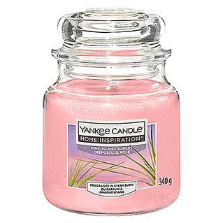 Yankee Candle Home Inspirations Duftkerze (Im Glas, Pink Island Sunset, Medium)