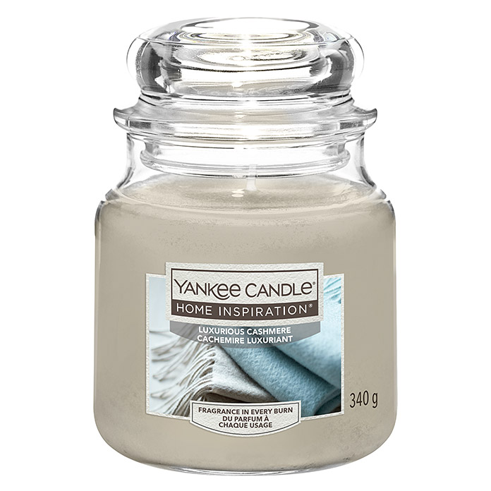 Yankee Candle Home Inspirations Duftkerze (Im Glas, Luxurious Cashmere, Medium)