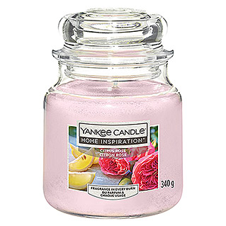 Yankee Candle Home Inspirations Duftkerze (Im Glas, Citrus Rose, Medium)