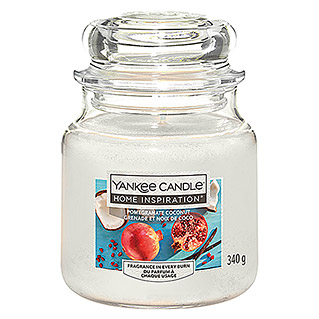 Yankee Candle Home Inspirations Duftkerze (Im Glas, Pomegranate Coconut, Medium)