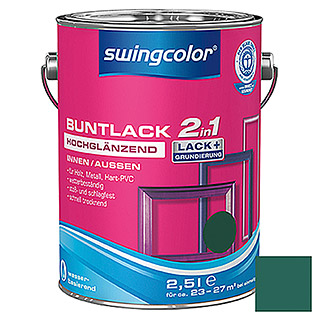 swingcolor 2in1 Buntlack  (Moosgrün, 2,5 l)