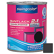 BUNTLACK 2IN1 HGL.WB750 ml SCHWARZ      SWINGCOLOR