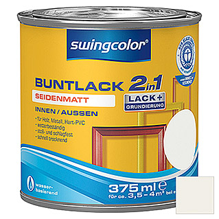 swingcolor 2in1 Buntlack (Weiß, 375 ml, Seidenmatt)
