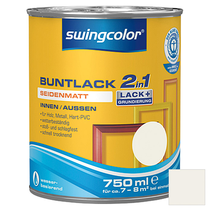 swingcolor 2in1 Buntlack (Weiß, 750 ml, Seidenmatt)