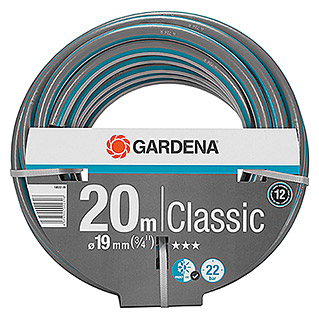Gardena Classic Manguera (Largo: 20 m, Diámetro tubo flexible: 19 mm (¾''), Presión de estallido: 22 bar)