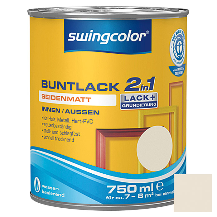 swingcolor 2in1 Buntlack  (Perlweiß, 750 ml)