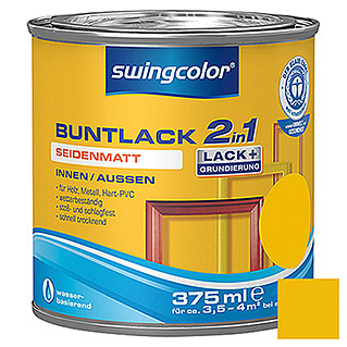 swingcolor 2in1 Buntlack (Rapsgelb, 375 ml, Seidenmatt)