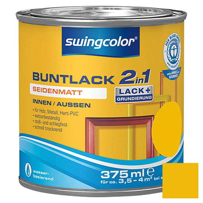BUNTLACK 2IN1 SDM.WB375 ml RAPSGELB     SWINGCOLOR
