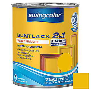 swingcolor 2in1 Buntlack (Rapsgelb, 750 ml, Seidenmatt)