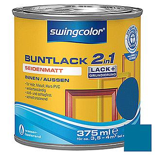 swingcolor 2in1 Buntlack (Enzianblau, 375 ml, Seidenmatt)