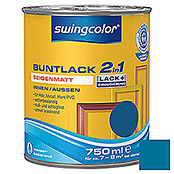 swingcolor 2in1 Buntlack (Enzianblau, 750 ml, Seidenmatt)