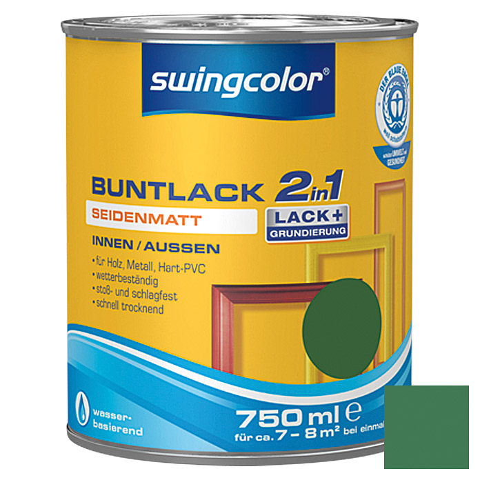 swingcolor 2in1 Buntlack  (Laubgrün, 750 ml)