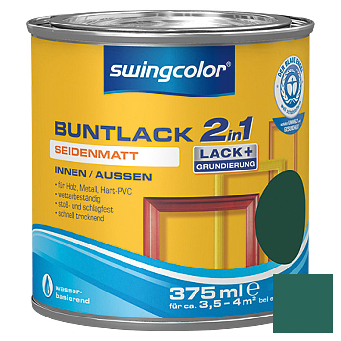 BUNTLACK 2IN1 SDM.WB375 ml MOOSGRUEN    SWINGCOLOR