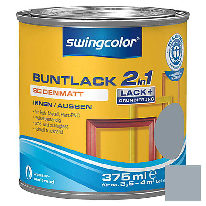 swingcolor 2in1 Buntlack  (Silbergrau, 375 ml)