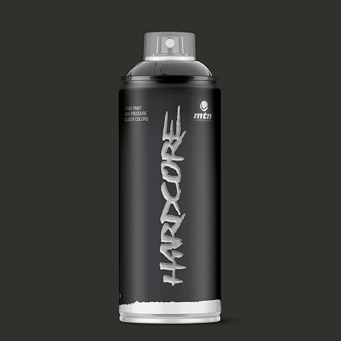 mtn Spray Hardcore (Negro, 400 ml, Brillante)