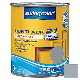 swingcolor 2in1 Buntlack (Silbergrau, 750 ml, Seidenmatt)