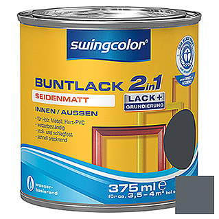 swingcolor 2in1 Buntlack (Anthrazitgrau, 375 ml, Seidenmatt)