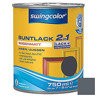 swingcolor 2in1 Buntlack  (Anthrazitgrau, 750 ml)