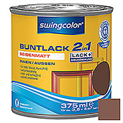swingcolor 2in1 Buntlack (Nussbraun, 375 ml, Seidenmatt)