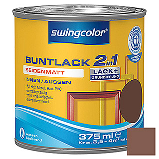 swingcolor 2in1 Buntlack  (Nussbraun, 375 ml)