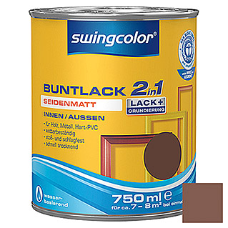 swingcolor 2in1 Buntlack (Nussbraun, 750 ml, Seidenmatt)