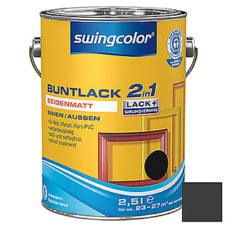 swingcolor 2in1 Barniz de color (Negro, 2,5 l, Mate)