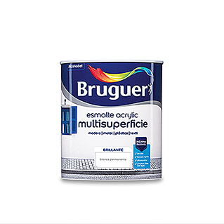 Bruguer Esmalte de color Acrylic multisuperficie (Blanco, 750 ml, Brillante)