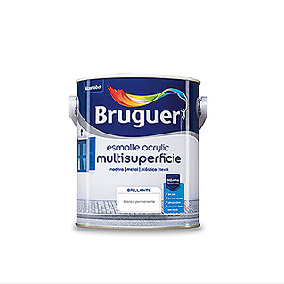 Bruguer Esmalte de color Acrylic multisuperficie (Blanco, 2,5 l, Brillante)