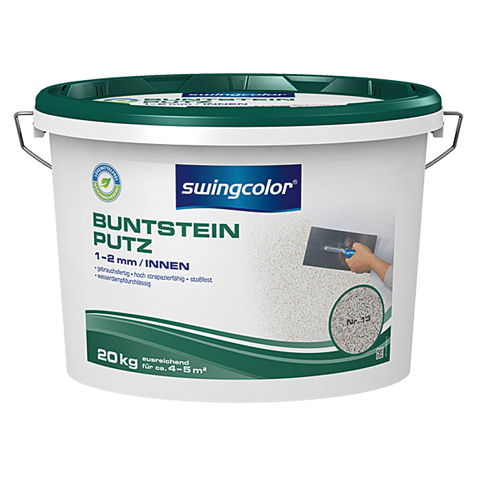 BUNTSTEINPUTZ 1-2mm 20 kg FARBTON 13    SWINGCOLOR